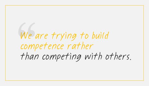 경쟁하기 보다는 경쟁력을 갖추겠습니다.